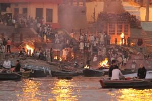 Crematorio en el Ganges