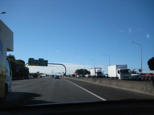 Manejando por la autopista