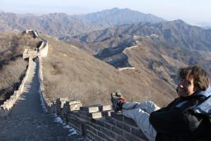 Gabriel en la muralla china